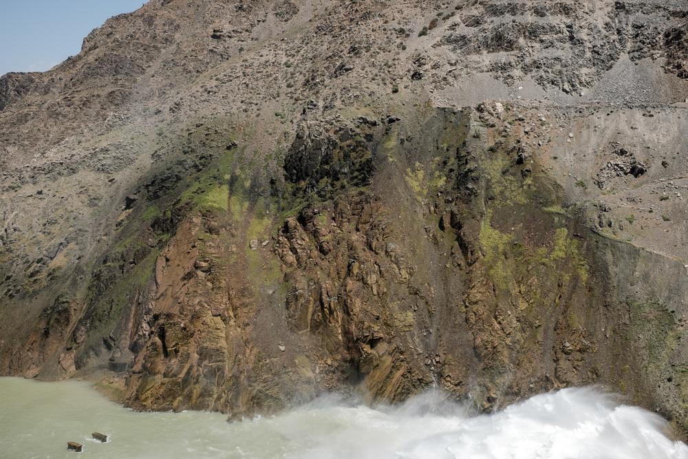 Rocks near Kirov Reservoir's dam