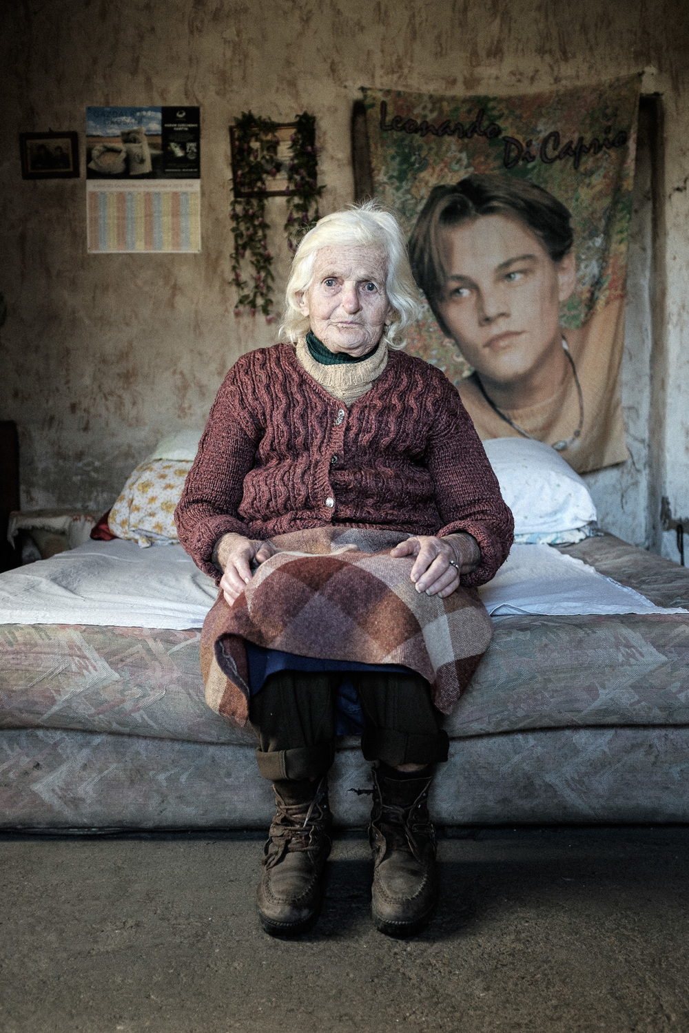Pensioner waiting for nurse in a village in Ormánság region (Hungary), which is one of the poorest region of the EU.