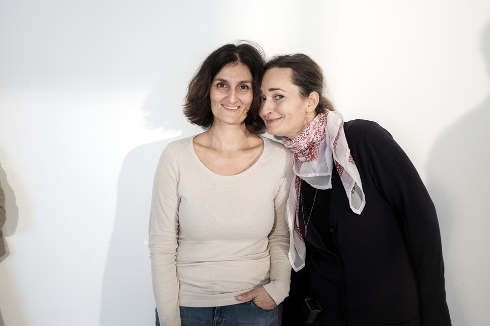 Editor in Chief Katalin Szám (Képmás magazine) with our stylist Melinda Domán. They look happy that I'm back, isn't it?