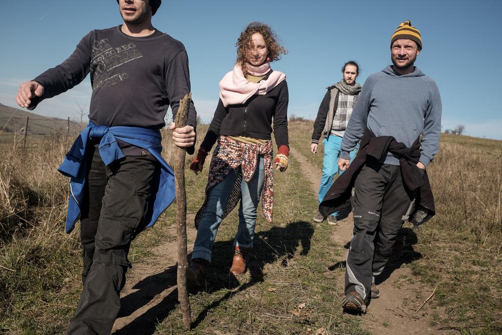 Kirándulás a Homoródszentpál feletti dombokon.