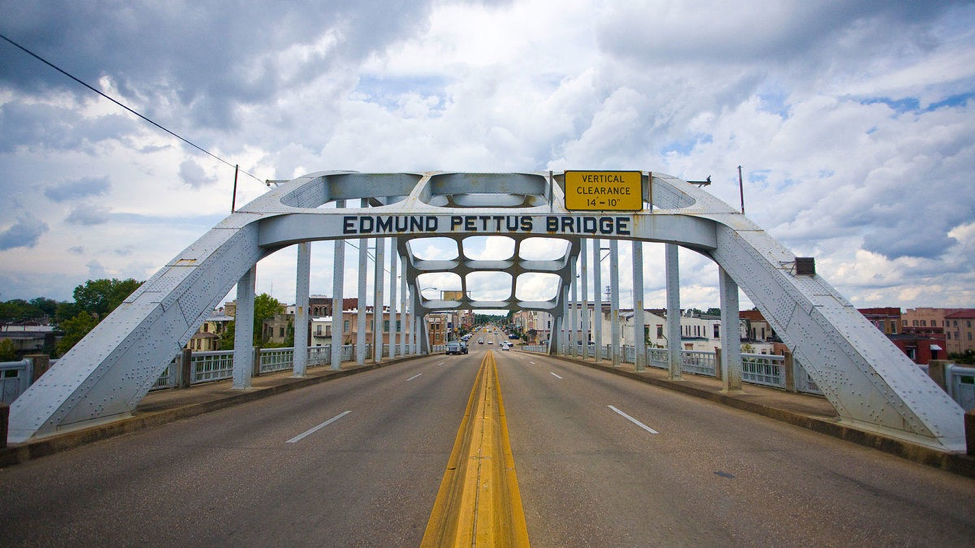 The Edmund Pettus Bridge, a noteable site on the Selma to Montgomery National Historic Trail.   Mike Norton,Flickr