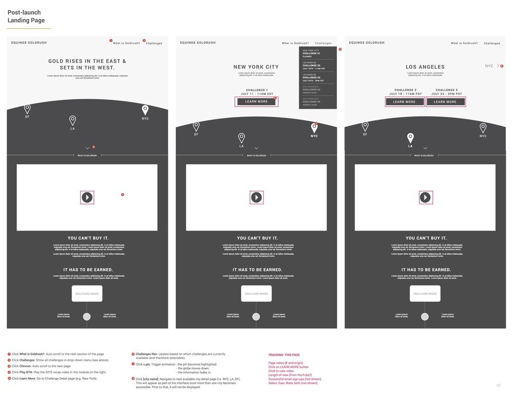 Desktop Landing Screen - Wireframes