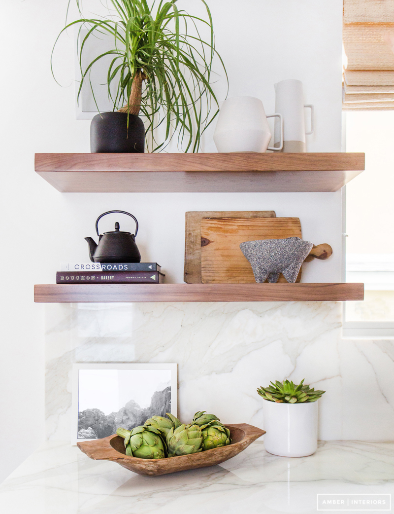 Open Wall Shelving | Amber Interiors | Home Organization | www.foundandkept.com