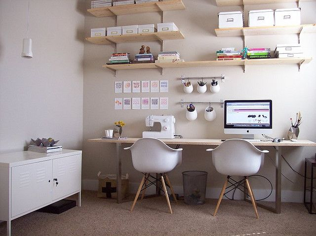 Modern Office | Home Organization | www.foundandkept.com
