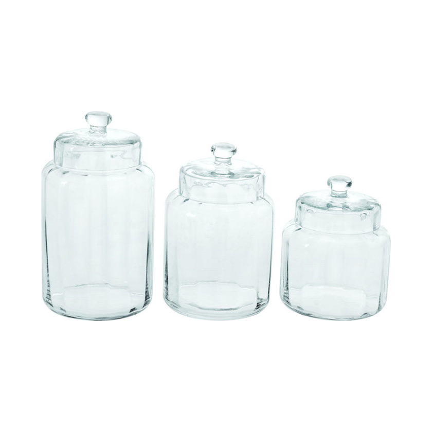 Glass Storage Jars | Dot & Bo | Home Organization | www.foundandkept.com