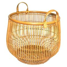 Bohemian Wicker Basket | Target | Home Organization | www.foundandkept.com