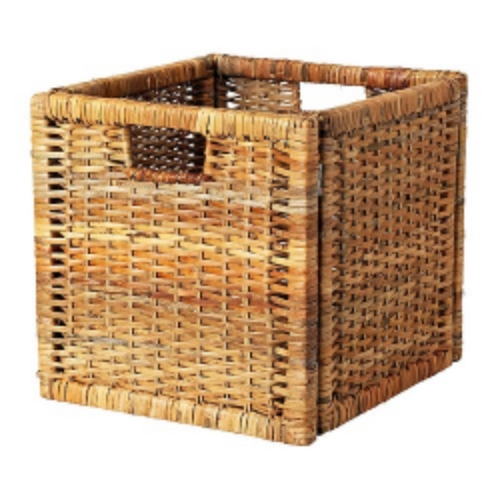 Bohemian Branas Basket | Ikea | Home Organization | www.foundandkept.com