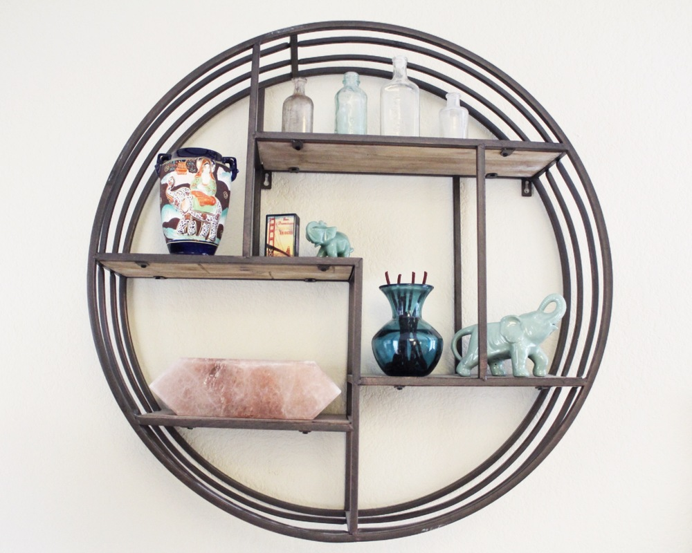 Circle Wall Shelving | Home Decor | www.foundandkept.com