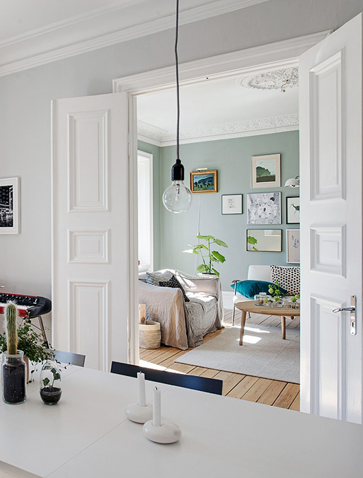 Modern Traditional Pale Green Wall Paint Color | Interior Design | www.foundandkept.com
