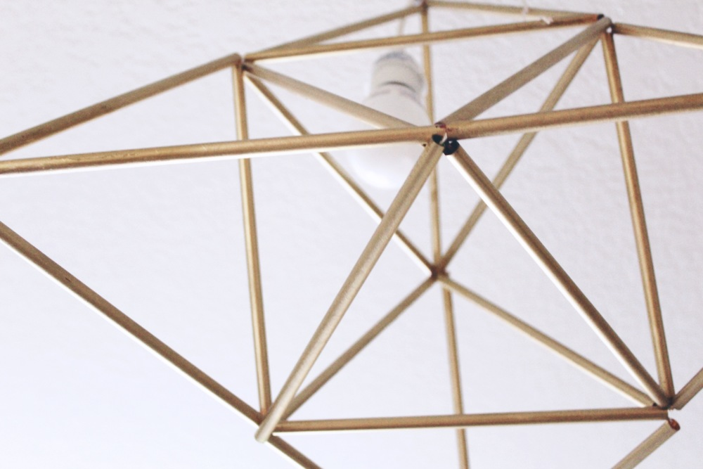 Geometric Pendant Light DIY | www.foundandkept.com
