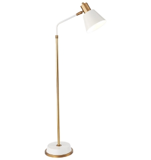 Rejuvenation White + Brass Task Lamp | www.foundandkept.com