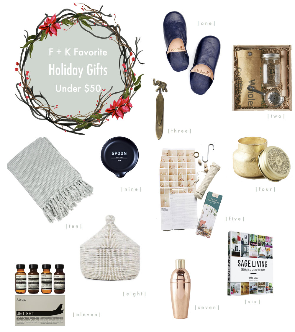 Friday Faves | 11 Holiday Gifts under $50 | www.foundandkept.com
