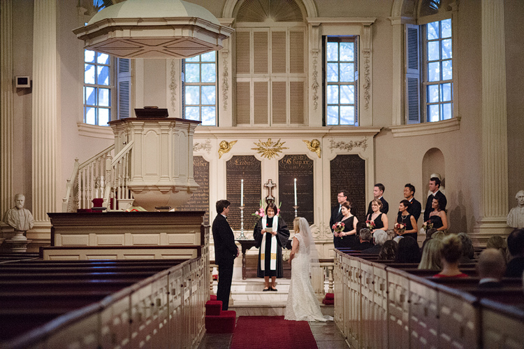 wedding at kings chapel in boston