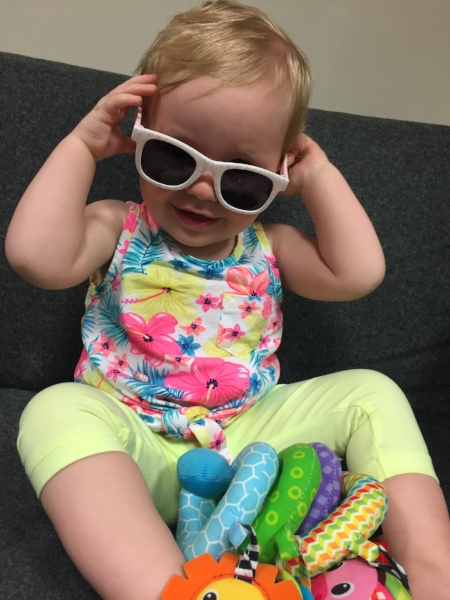My Daughter Olivia Wearing her shades