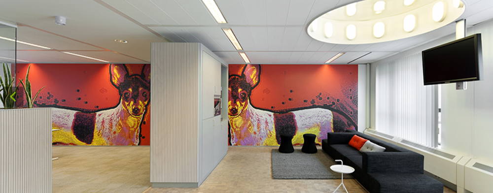 Murals for Bureau Marlies Rohmer Architects for the Interior Dutch Food Safety Authority
