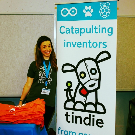 Working the Tindie booth at PyCon 2014 (Python programming conference). There were 54 other companies hiring engineers there (yes, I counted).
