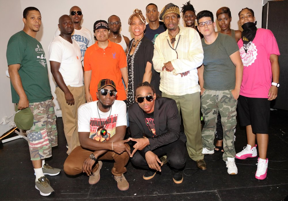 "AFRIKAN KARTEL W/ THE TEAM AFTER A SUCCESSFUL LISTENING PARTY TRIBUTE EVENT PAYING TRIBUTE TO ""THE GREAT MUHAMMAD ALI"""
