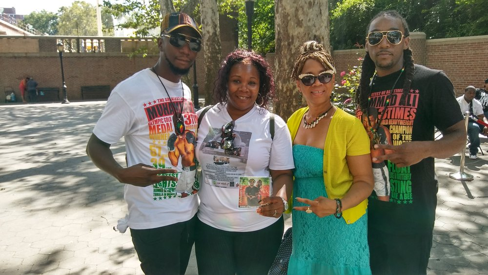 AFRIKAN KARTEL ATTENDING THE 1ST ANNUAL PEACE & UNITY CONCERT w/ Keisha Gordon & K. Pressley  IN NYC