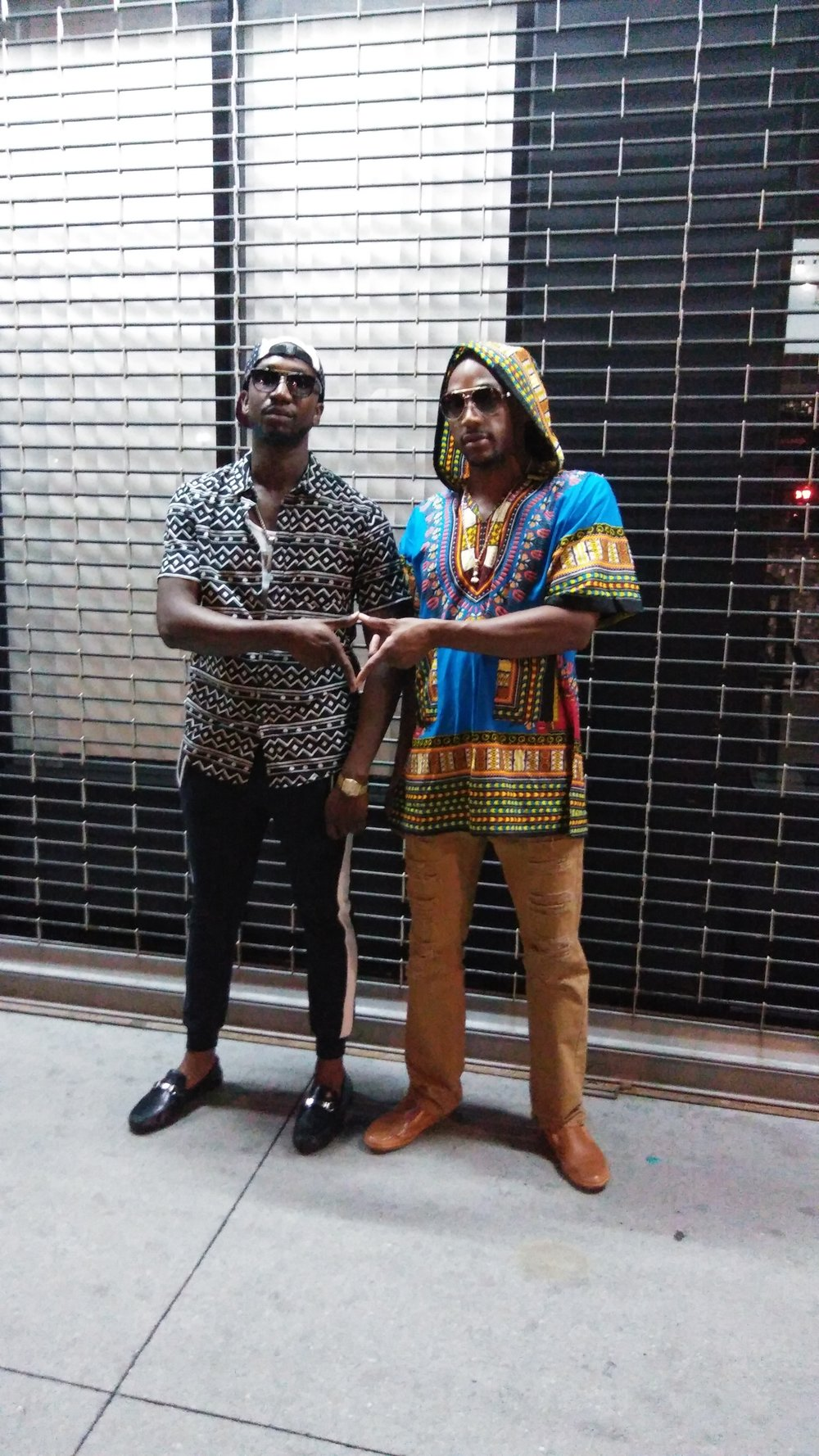 AFRIKAN KARTEL POSTING UP FOR A PIC AFTER PERFORMING @ THE SHRINE MUSIC VENUE , NYC 2016