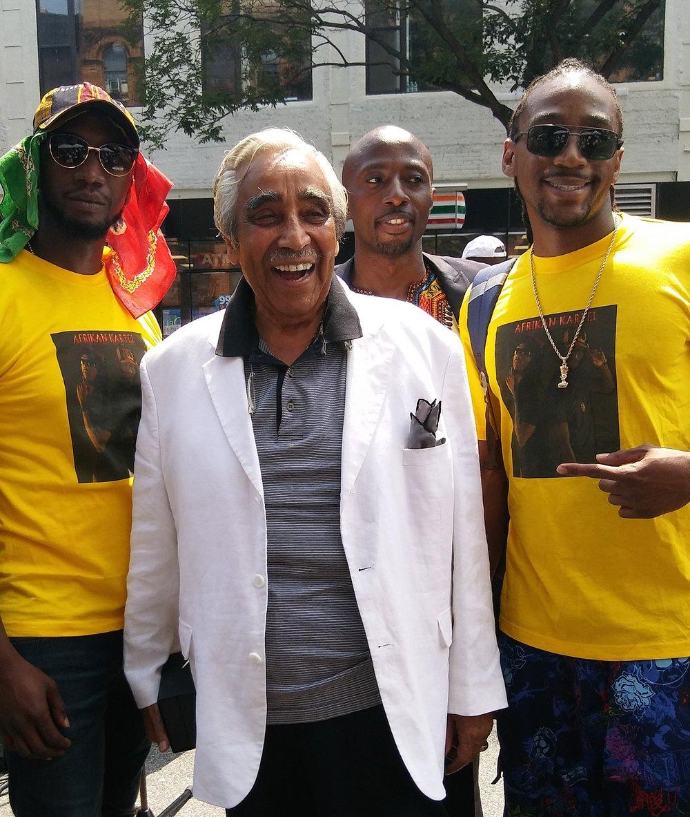 AFRIKAN KARTEL w/ NYC CONGRESS MAN CHARLES RANGEL @ THE AFRICA UNITY FESTIVAL