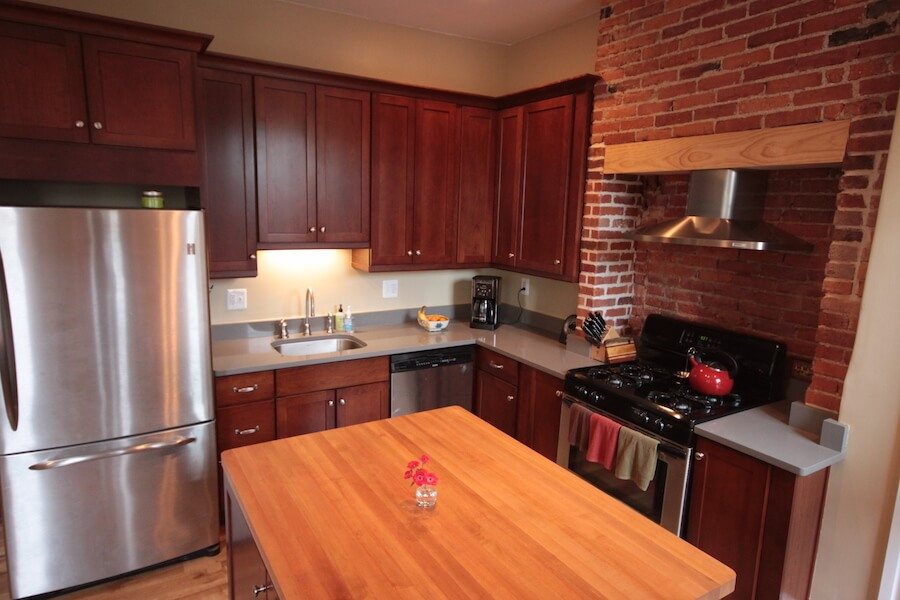 Kitchen Remodel in Beverly, MA with warm colors