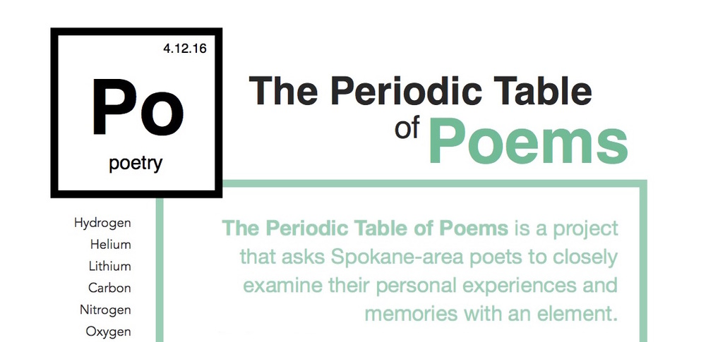 The periodic table of poems reading book release spark central urtaz Choice Image