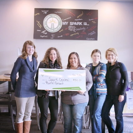 As a bonus, all of us Spark employees checked off a bucket list item: receive a giant check.