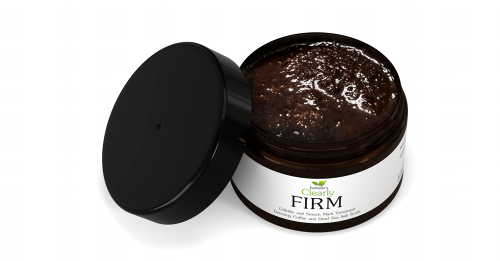Isabella's clearly FIRM Best Natural Coffee Scrub for Cellulite Treatment