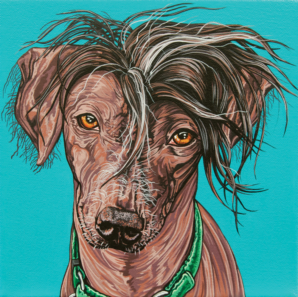 """Ava"", latex enamel on canvas, 8""x 8"", 2014"