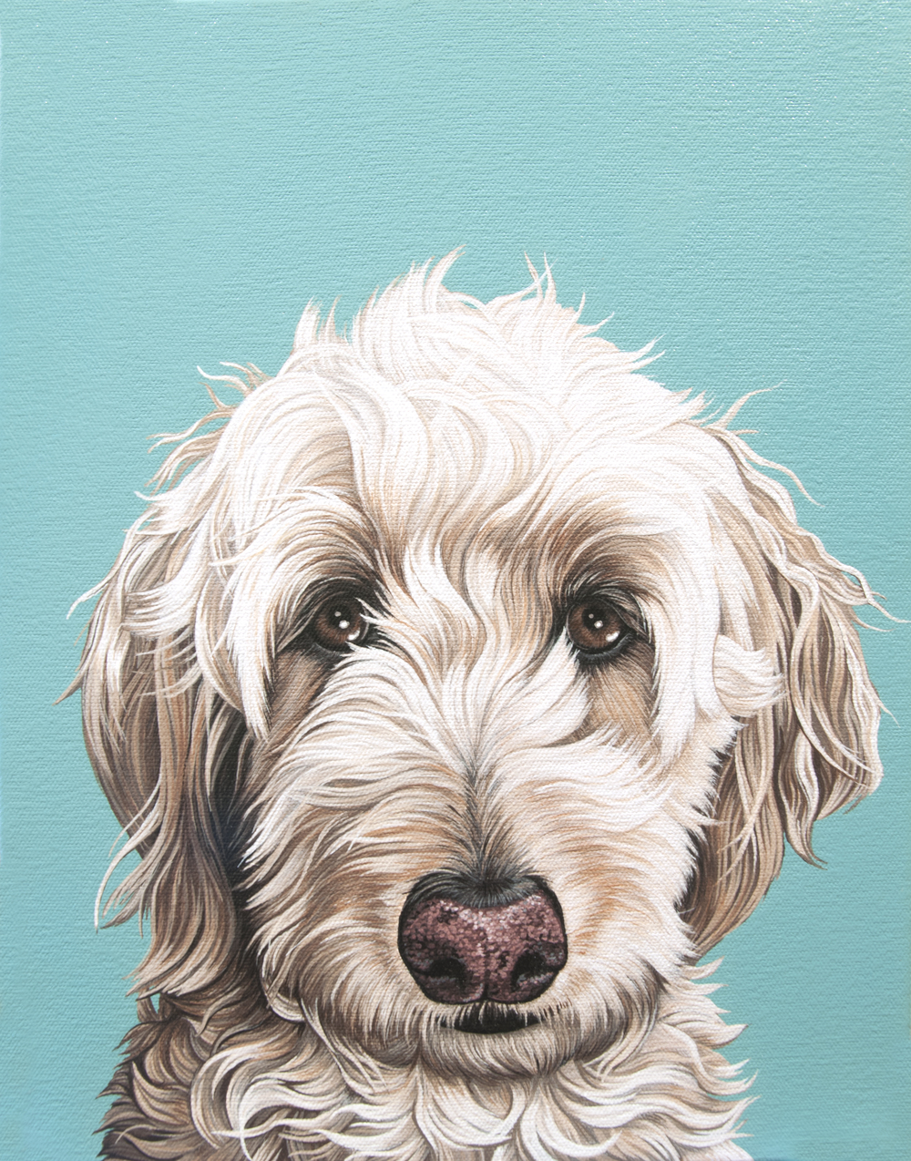 """Maddie"", latex enamel on canvas, 14""x 11"", 2015"