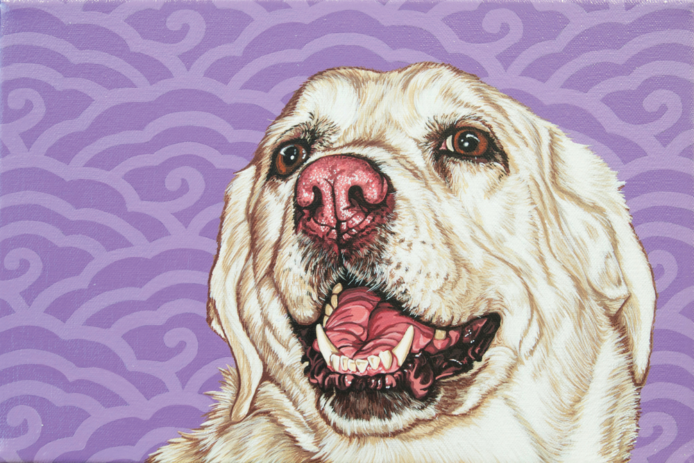 """Maggie"", latex enamel on canvas, 8""x 10"", 2014"