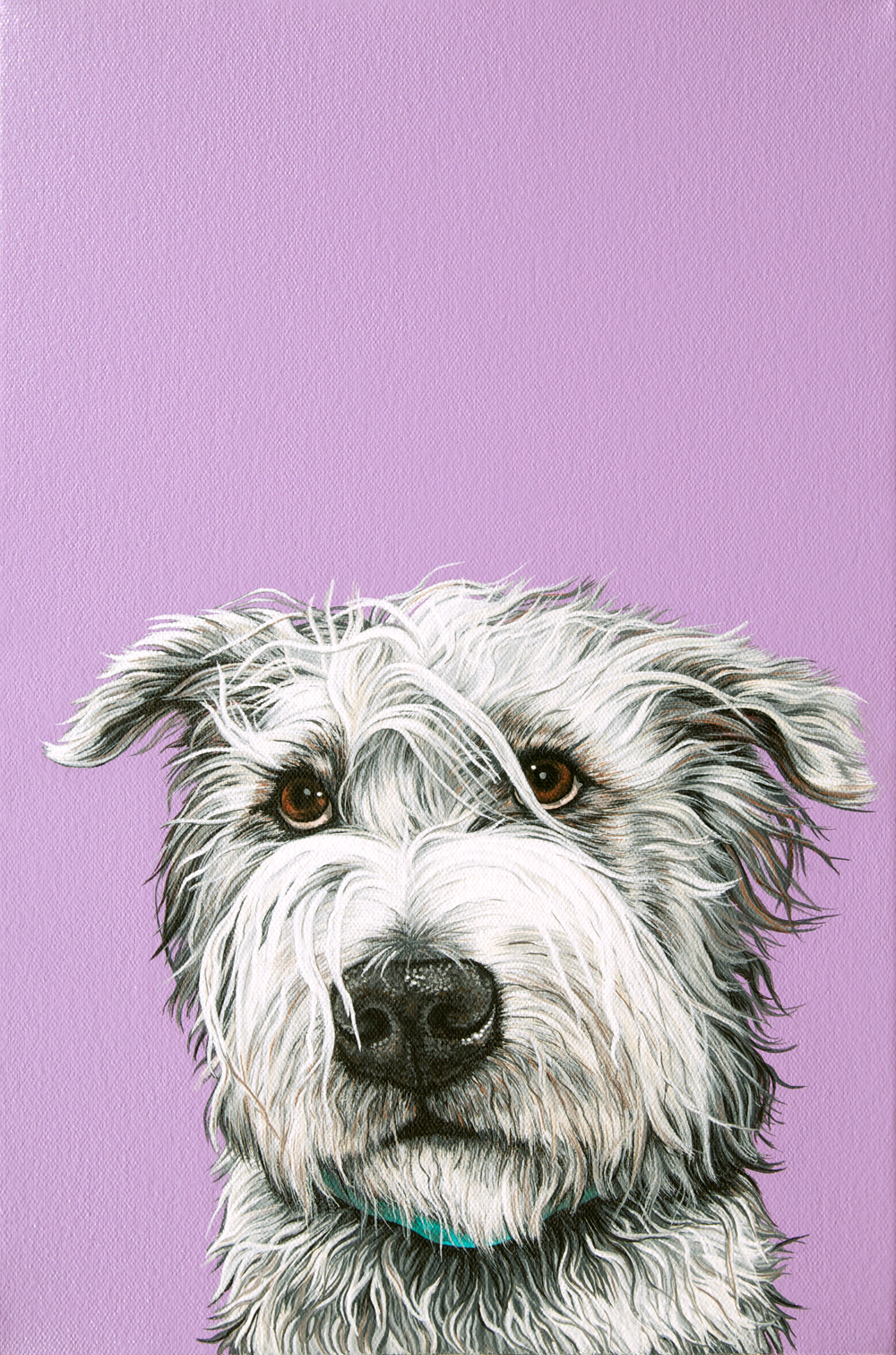 """Murphy"", latex enamel on canvas, 15""x 10"", 2015"
