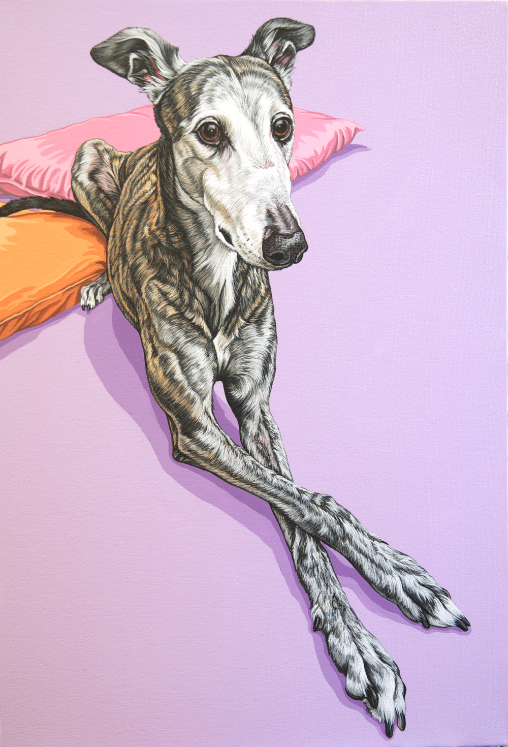 """Pinky"", 22""x 15"", latex enamel on canvas, 2015"