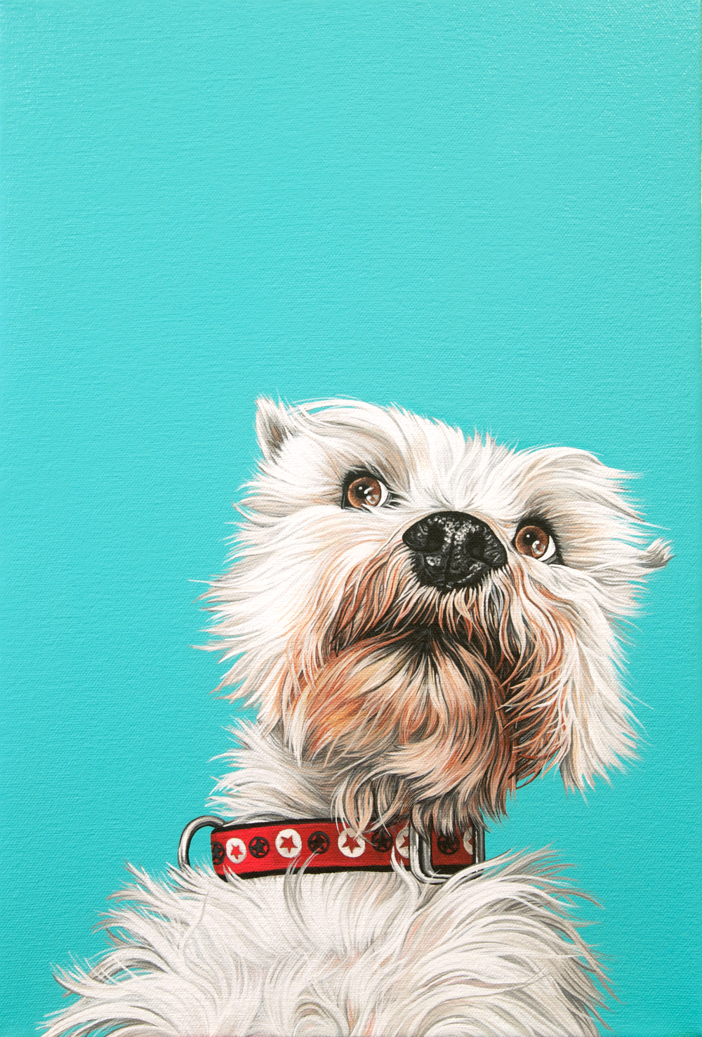 """Zander"", latex enamel on canvas, 16""x 11"", 2015"