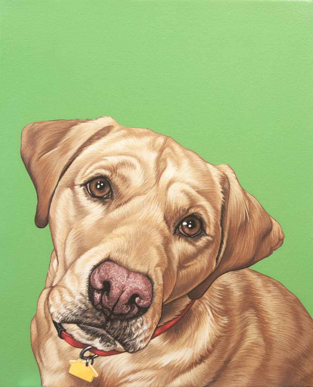 """Lucy"", latex enamel on canvas, 12""x 16"", 2015"