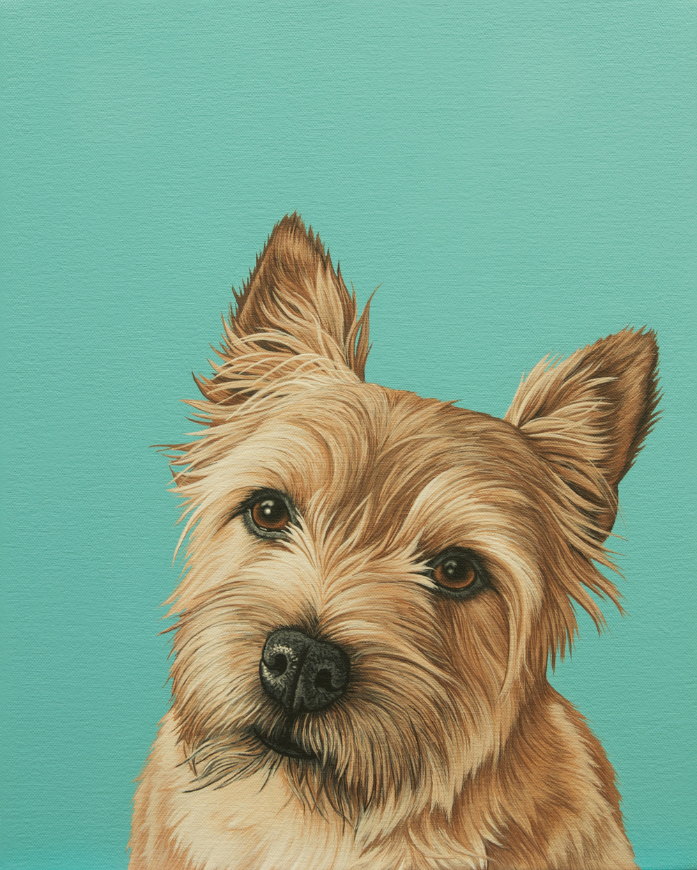 """Gus"", latex enamel on canvas, 12""x 15"", 2015"