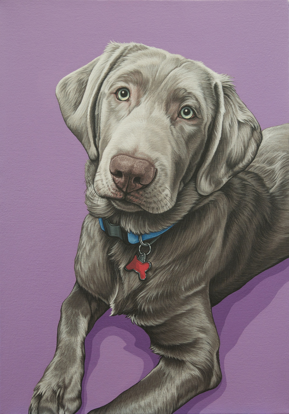 """Hudson"", latex enamel on canvas, 14""x 20"", 2016"