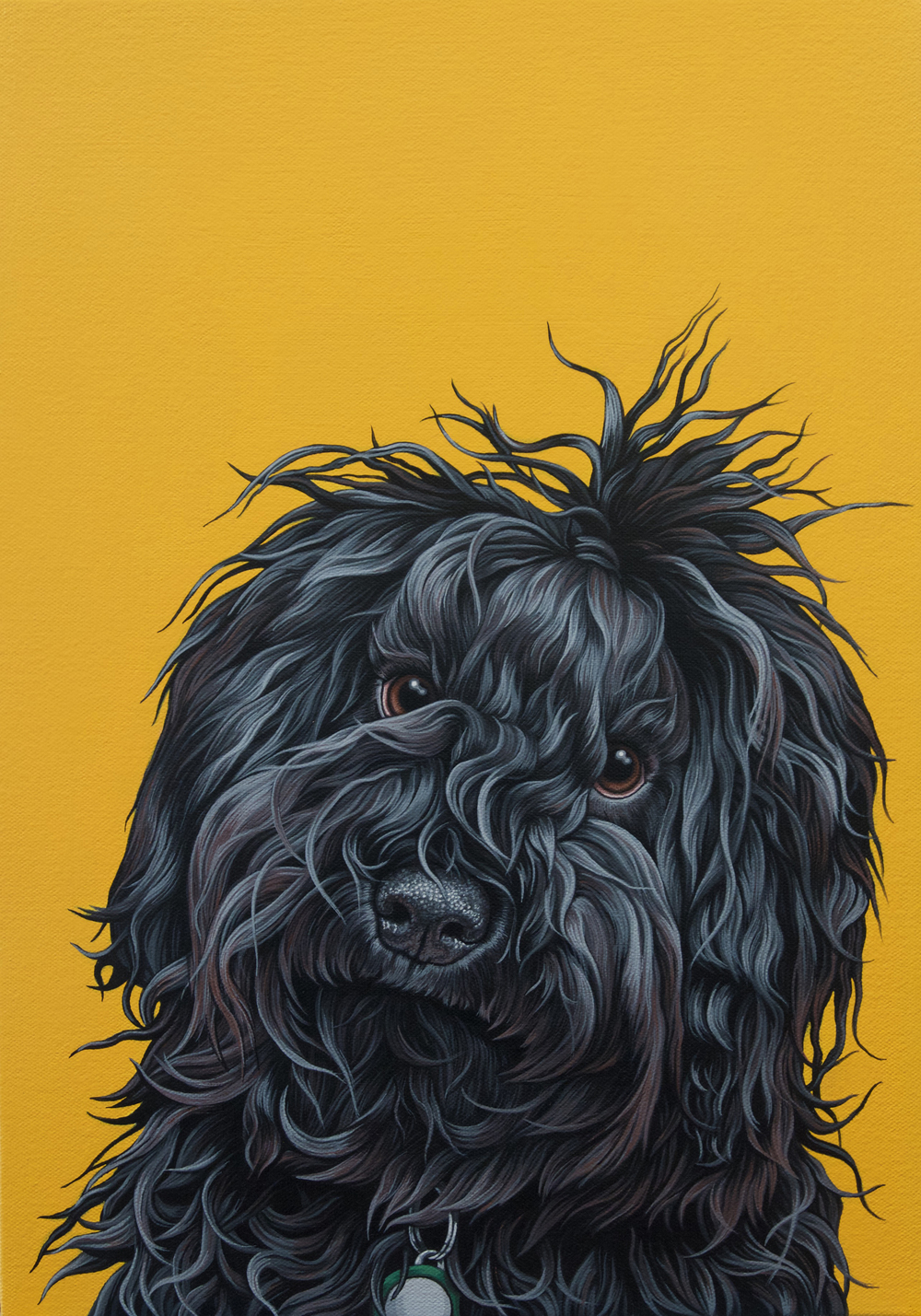 """Cordy"", latex enamel on canvas, 12"" x 16"", 2016"