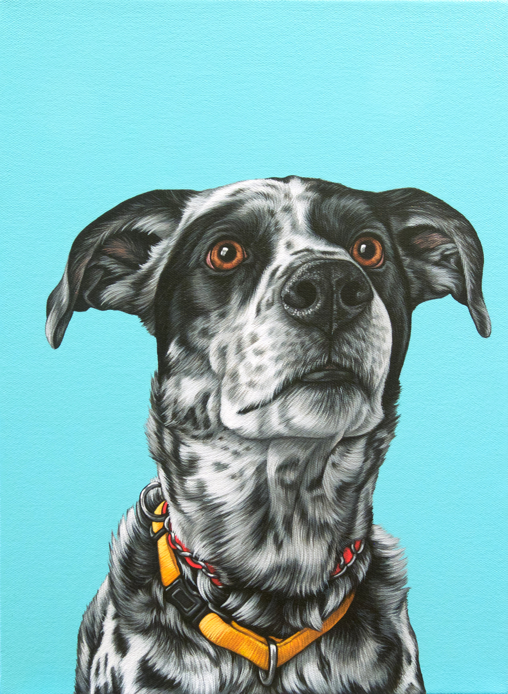 """Sebastien"", latex enamel on canvas, 12""x 15"", 2016"
