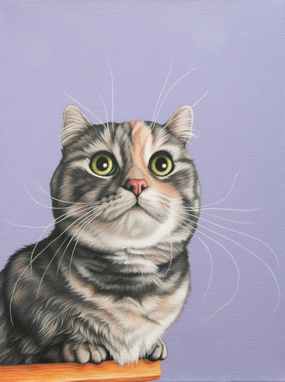 """Ginny"", latex enamel on canvas, 12"" x 16"", 2017"