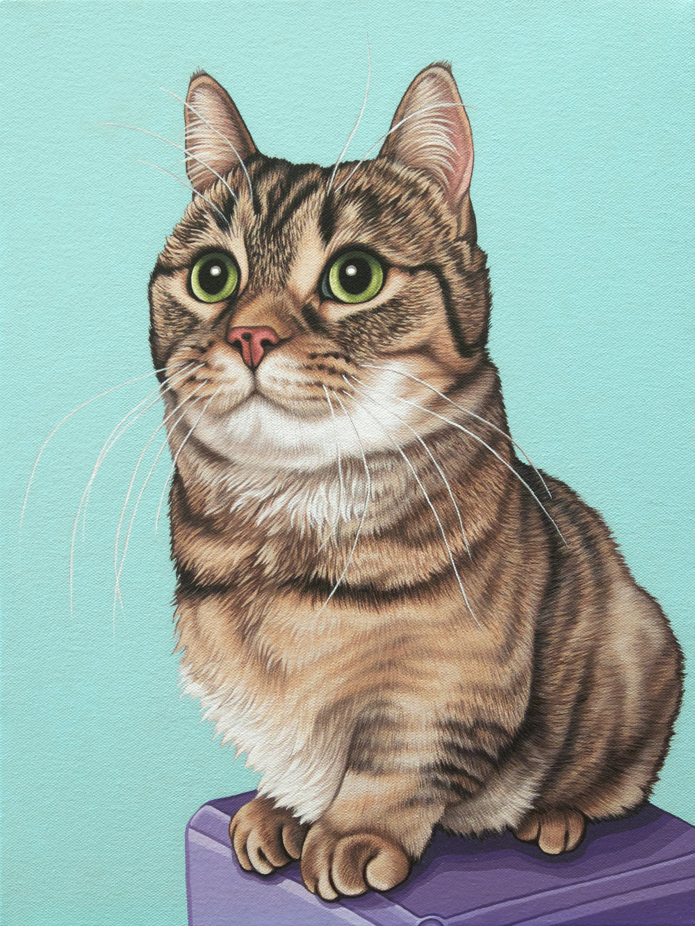 """Molly"", latex enamel on canvas, 12"" x 16"", 2017"