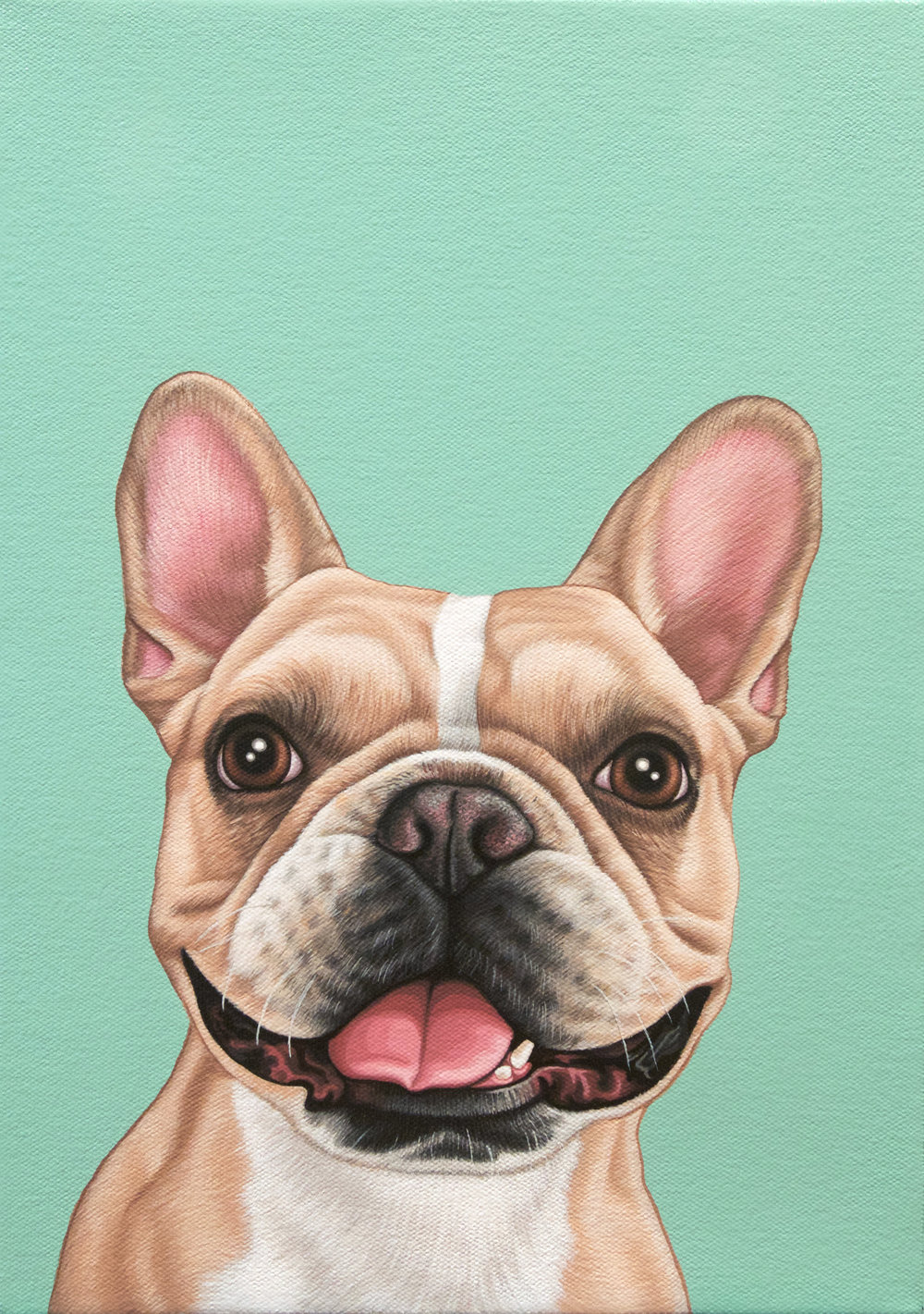 """Porkchop"", latex enamel on canvas, 10"" x 14"", 2017"