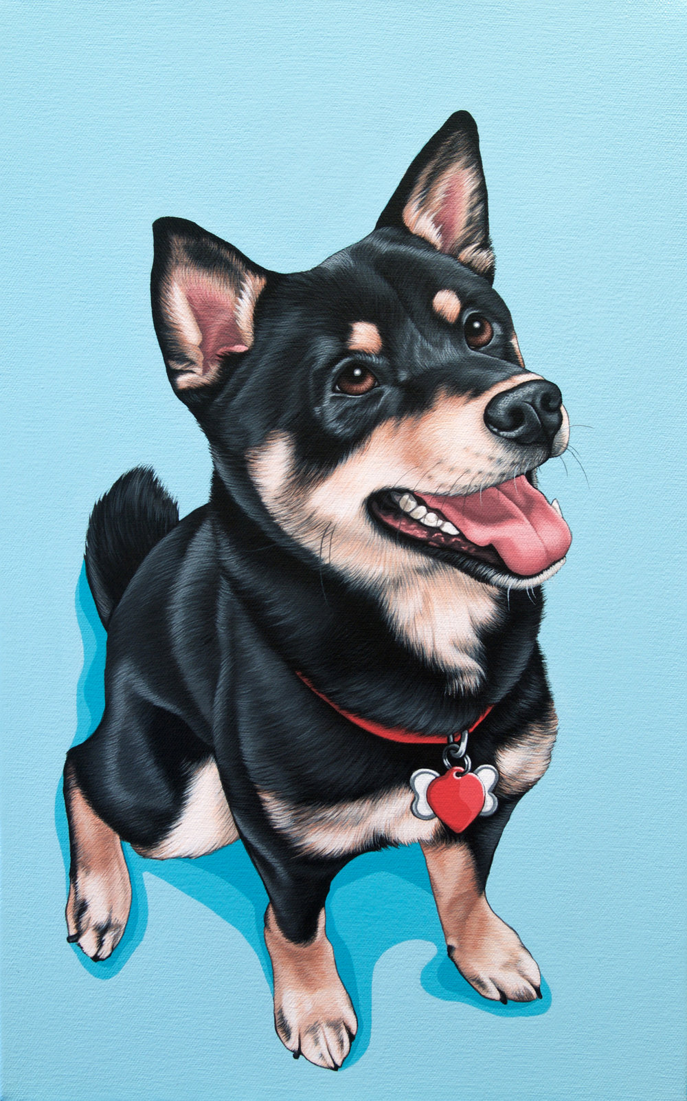 """Yoko"", latex enamel on canvas, 12"" x 18"", 2017"