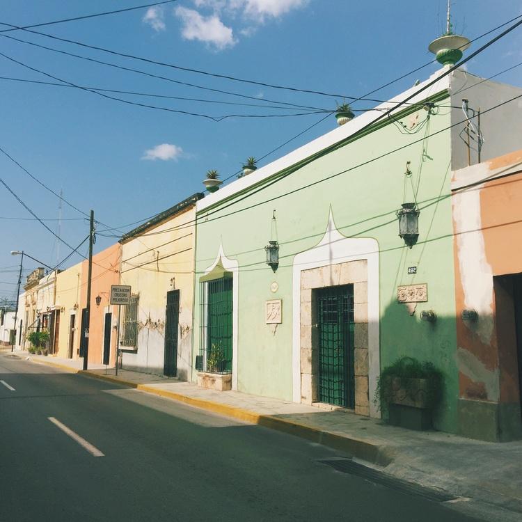 Streets in Merida, Mexico