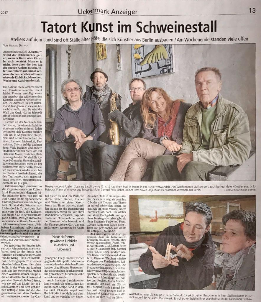 Tatort Kunst im Schweinestall – MOZ/Michael Dietrich, 08.05.2017