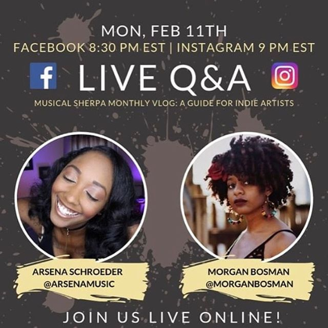 Going LIVE with the lovely @arsenamusic tonight to talk touring as an indie artist in our Q&A! IG live at 8pm CST 🤜🏾🤛🏾🌺