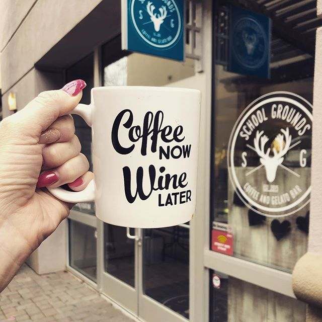 We are open until 5pm today come on in!! #coffeeshopcorners #coffeenow #winelater #downtownlodi #afterwine #coffeehelps