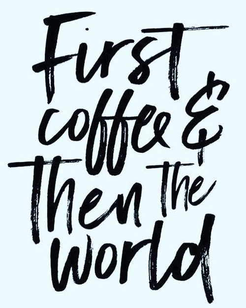 Once you have coffee you feel like you can conquer anything #coffeehelps #localbusiness #caffeinefix #bringiton