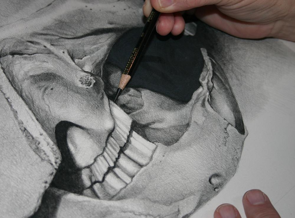 Detail of pencil WIP