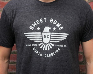 82786b862b65e Sweet Home NC Light Charcoal.jpg North Carolina Sweet Home Shirt Home State  Apparel NC